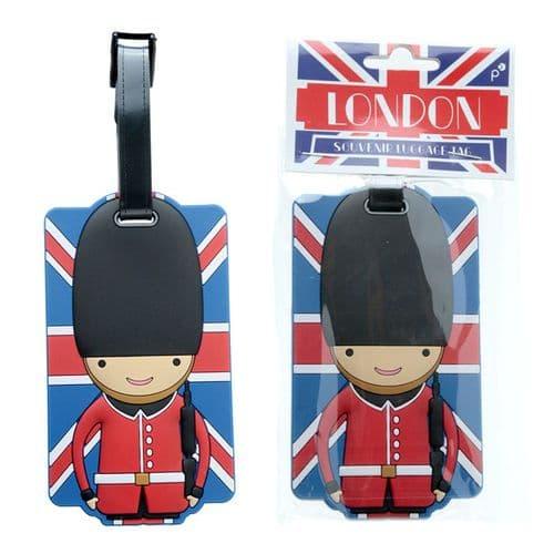 Fun Novelty Union Flag London Guardsman Luggage Tag